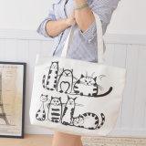New Tide Fashion Handbag Bag Portable Canvas Bag Student Bag Shopping Bag Shoulder′s Mother