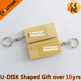 Wood/Bamboo USB Disk with Gift Keyring (YT-8105)