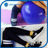Women′s Compression Tights Double-Circle Printed Fabric Leggings Workout Capris Yoga Legging