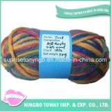 Chunky Rainbow Dyed Weaving Hand Knitting Polyester Acrylic Yarn (T008)
