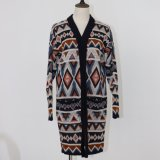 Ladies′ Colorful Cardigan with Lose Version and Soft Handfeel