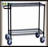 Black Wire Shelf with Wheels