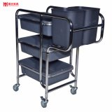 China Factory Low Price Plastic Plate Collection Restaurant Trolley