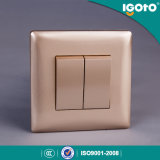 European Standard 2 Gang 1 Way Switch with Light Smart Home Wall Socket