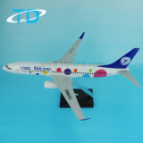 "Logo ""9air. COM"" Miniatures Plane Blue Boeing 737-800"