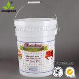 5 Gal Plastic Bucket W/Lid 20 Liter Plastic Pail W/Handle