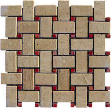 Natural Stone Mosaic / Marble Mosaic Tile / Marble Mosaic for Paving Stone/Garden Yard/Wall
