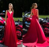 Sexy Pageant Gowns Sheer Chiffon Lace Evening Dress EU09