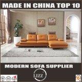 Simple European Lobby Furniture L Shape Sectional Yellow Sofa