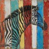 Wildlife Zebra Wood Wall Art