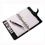 Customized Printed PU Leather Notebook with Ring Binder