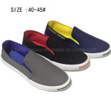 Latest Men′s Slip on Injection Casual Canvas Shoes (DL60930-1)