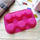 Five Round Rubber Food Silicone Waffle Mold with 18*1.5cm
