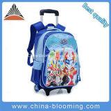Children Cartoon Nylon School Wheel Rolling Backpack Trolley School Bag