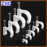 Plastic Round Nail Hook Plastic Wall Cable Clip