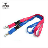 Ribbed Polyester Lanyard with Silk Screen Printing for Promotion Item