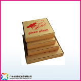 Recyclable Kraft Paper Corrugated Cardboard Pizza Box (xc-11-001)