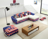U. K. Fashionable Fabric Sofa Set (Gd-18)