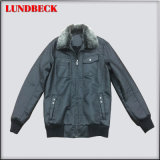 Fashion PU Jacket for Men with Good Quality