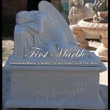 Marble Stone Granite Memorial White Carrara Tombstone Mem-002