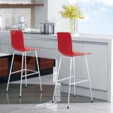 Armless Backrest Red High Plastic Bar Chair (SP-UBC245)
