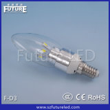 Hot Sales Low Power Silver E14 LED Recharge Bulb 3W