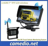 Bus RV Truck Vehicle Monitoring System 7 Inch Monitor + Truck Wireless Rear View Backup Camera System Kit