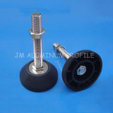 Heavy Load Fixed Foot with Plastic Base Steel Screw M16