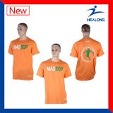 Healong China Wholesale Apparel Gear Cheap Price Screen Printing Men′s T-Shirts