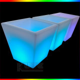 Square Multi Coloured LED Light Indoor Outdoor Planter Garden Pot