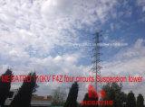 Megatro 110kv F4z Four Circuits Suspension Tower