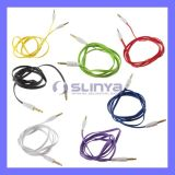 3.5mm M to M DC Aux Entension Flat Car Aux Audio Cable for iPod, iPhone, MP5 Mobile Cell Phone