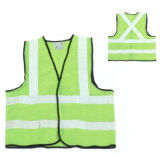 Yellow Fluorescent Roadway Reflective Vest Safety Jacket with Ce Approved