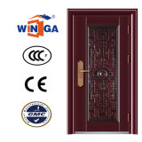 Decorative Frame 2.0mm Good Quality Security Steel Doors (W-S-22)