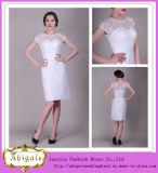 Lace Knee-Length Sweetheart Short Sleeve Bridesmaid Dress (MI 3518)