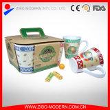V Shape Mug with Coffee Designs Ceramic Cup