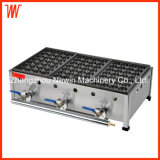 3 Plate Commercial Japanese Gas Takoyaki Grill