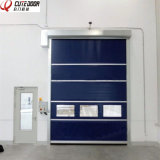 Transparent Food Factory PVC Fabric High Speed Garage Door