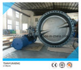 EPDM Liner U Type Section Double Flange Butterfly Valve