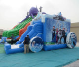 Big Kids Frozen Dairy Queen Inflatable Combo Castle with Slide