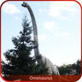 Outdoor Christmas Snow Animatronic Dinosaur Statue