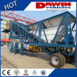 25m3/H - 75m3/H Movable Concrete Batching Mixing Plant with Truck Chassis