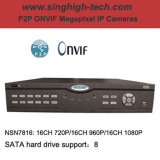 16CH 1080P Cloud P2p Onvif NVR Network Video Recorder (NSN7816)