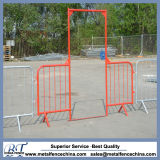 Red Powder Crowd Control Barriers Access Gate
