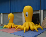 Yellow Inflatable Octopus for Viewing