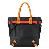 Quality Casual Women Black Leather Handbags (MBNO035100)