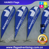 Same Day Delivered Outdoor Advertising Beach Flag, Stand Flag, Teardrop Flag