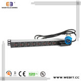 1u Industrial IEC PDU with 8 Outlet