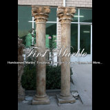 Antique Travertine Column for Home Decoration Mcol-313