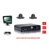 H. 264 3G WiFi 4CH Multi-Function Standalone SD Card Mobile DVR